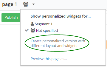 personalize pages