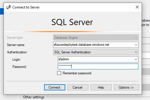 Deploy the database to Azure SQL - Sitefinity CMS Upgrade