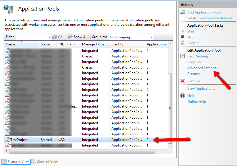 Configure the project's App_Data folder to be on a shared file