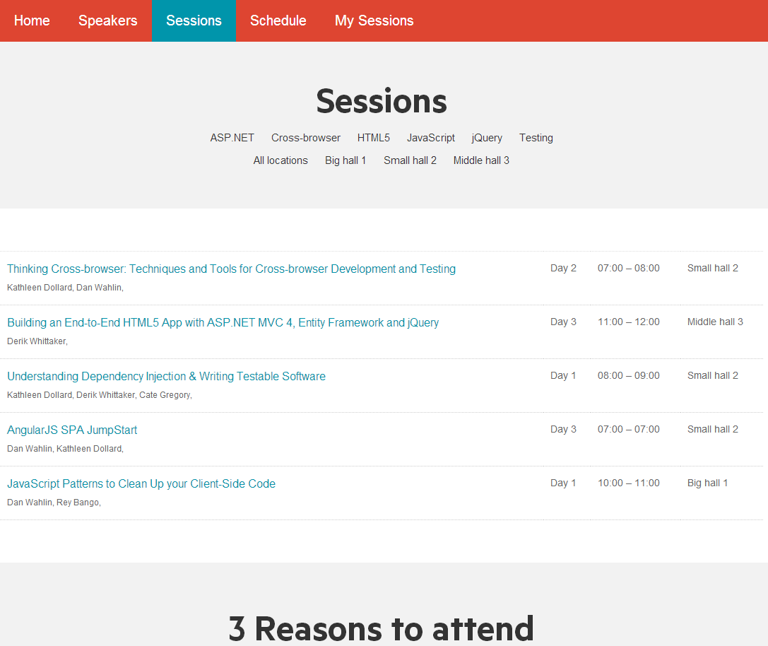 Modify the List view of the Sessions template - Sitefinity CMS Modules