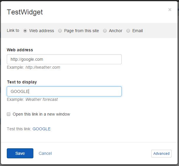 Use Link selectors in Content block widgets - Sitefinity CMS Widgets