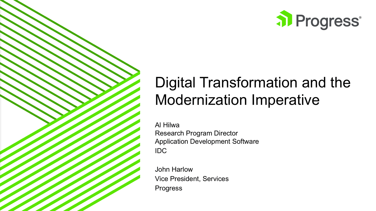 Digital Transformation and the Modernization Imperative