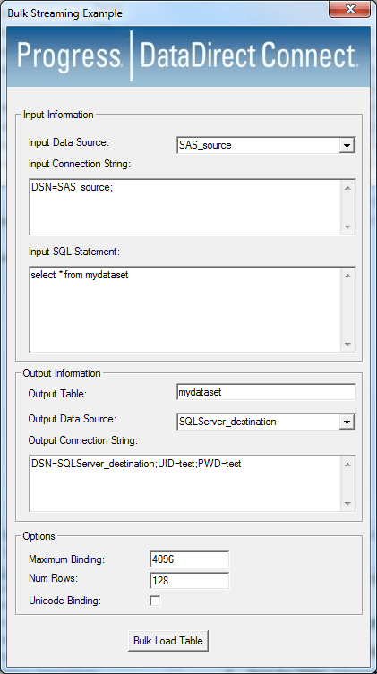 Export SAS Dataset to SQL Server