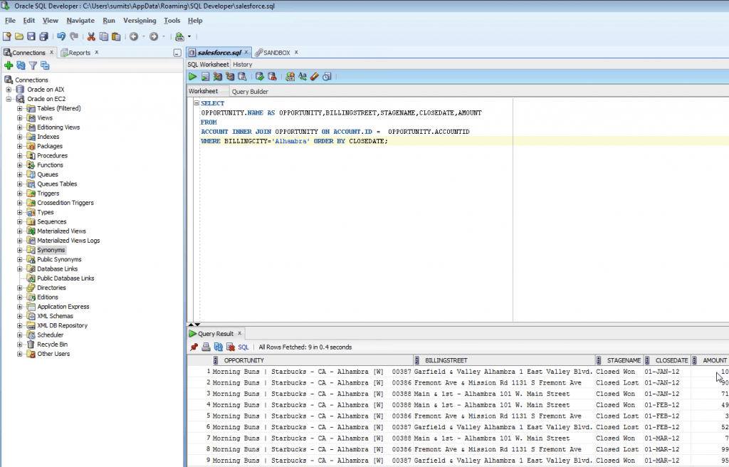 oracle sql developer queries pdf