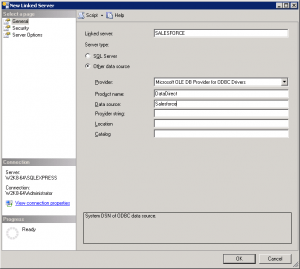 SQL Server Linked Server to Salesforce