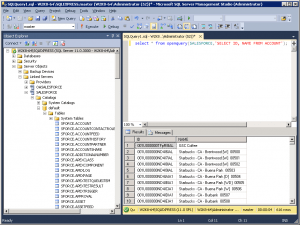 Real-time Salesfoce query from SQL Server