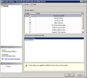 SQL Server Linked Server ODBC connection to Salesforce fr
