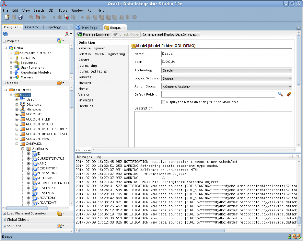 Oracle data integrator etl jdbc source for eloqua marketi 7 in the attributes for the eloqua campaign object change the source data types from varchar to varchar2 in this example im loading data from campaign baditri Gallery