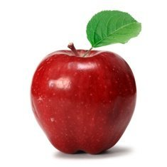 A red delicious apple representing siloed data