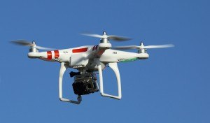 photo of a quadcopter drone