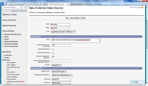 Figure 4: Creating new external data sources
