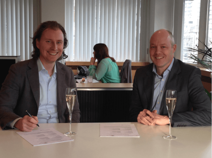 Hans van Dommelen of Cloudselling with the director of Brixxs about Progress Rollbase