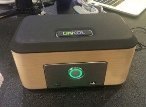 The Onköl base station on display at CES 2015
