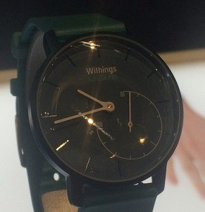 A Withings Activité displayed at CES 2015
