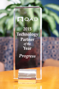 Progress named QAD 2015 Technology Partner of the Year