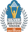 silver 2020 stevie winner for great employers