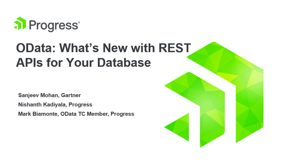 Whats new in REST APIs for your database