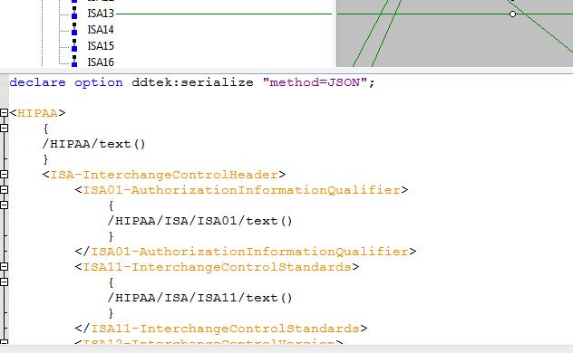 """declare option ddtek:serialize """"method=JSON"""";"""