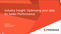 Optimizing your data for better Performance