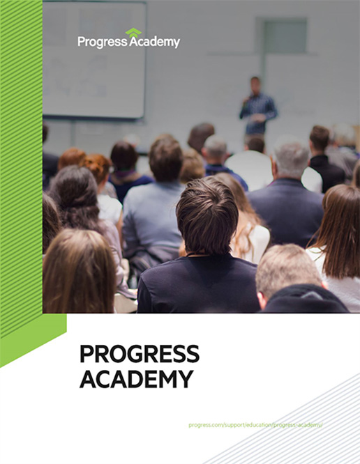 progress academy presentation cover image